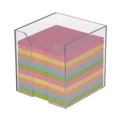Kostka nieklejona kolorowa w dużym pojemniku