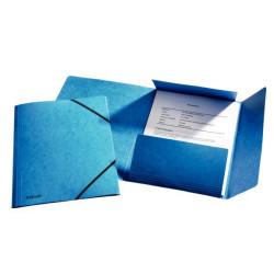Teczka kartonowa z gumką niebieska Esselte
