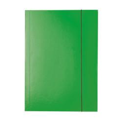 Teczka z gumką lakierowana zielona Esselte