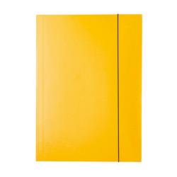 Teczka z gumką lakierowana żółta Esselte