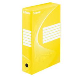 Pudło archiwizacyjne Esselte żółte 80mm
