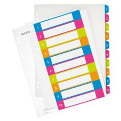 Przekładki plastikowe Leitz WOW do nadruku (1-10)