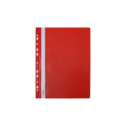Skoroszyt twardy zawieszany czerwony (10 szt) Biurfol