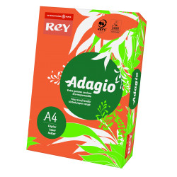 Papier ksero kolorowy Rey Adagio A4 80g/m2 Intensywnie pomarańczowy