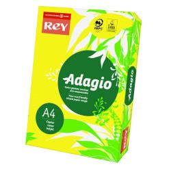 Papier ksero kolorowy Rey Adagio A4 80g/m2 Żółty