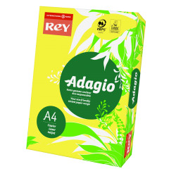 Papier ksero kolorowy Rey Adagio A4 80g/m2 Cytrynowy