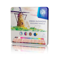 Kredki ołówkowe PRESTIGE Astra 24 kolory