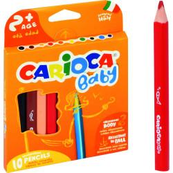 Kredki ołówkowe trójkątne Carioca Baby 10 kolorów
