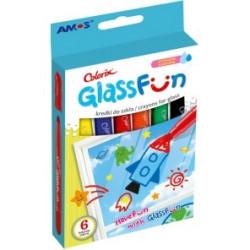 Kredki do szkła AMOS fun glass GF6P 6 kolorów.