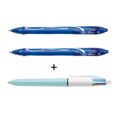 Długopis GELOCITY 0.7MM niebieski BIC 2+1 GRATIS