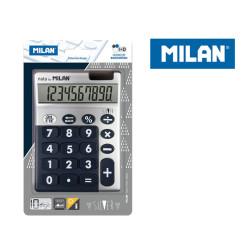 Kalkulator 10 poz. SILVER MILAN duże klawisze, granatowy