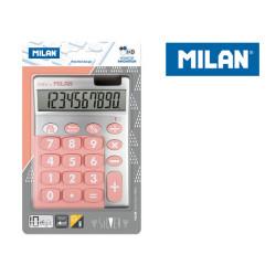 Kalkulator 10 poz. SILVER MILAN duże klawisze, róż