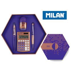 Zestaw upominkowy MILAN COPPER fiolet + GRATIS