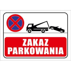 Tabliczka informacyjna A4 Zakaz Parkowania