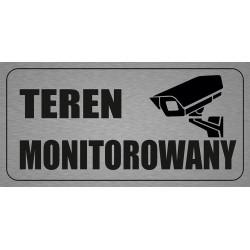 Tabliczka informacyjna 200x100mm Teren/obiekt Monitorowany
