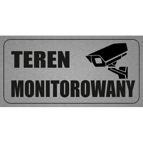Tabliczka informacyjna A4 Teren Monitorowany