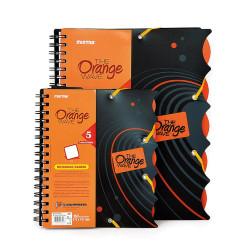 Kołonotatnik ORANGE A5+ 90kartek kratka 80g