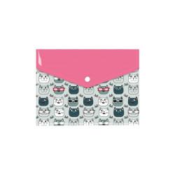 Teczka koperta A4 z nadrukiem Szare koty