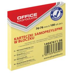 KARTECZKI SAMOPRZYLEPNE 76X76 100K PASTEL OFFICE j. żółty