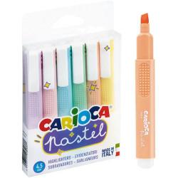Zakreślacz Pastel CARIOCA 6 kol.