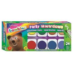 Farby akwarelowe BAMBINO 24 kolory