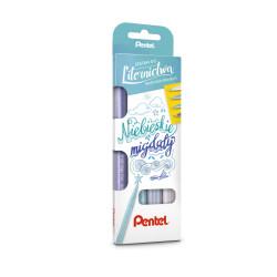 Zestaw pisaków Pentel Brush Pen - niebieskie migdały
