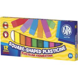 Plastelina kwadratowa ASTRA 12 kolorów