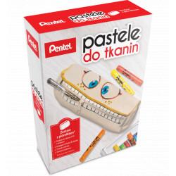 Zestaw pasteli do tkanin ze szkolnym piórnikiem + GRATIS PASTELE 22