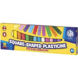 Plastelina kwadratowa ASTRA 18 kolorów