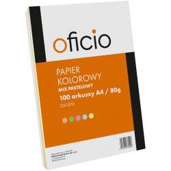 PAPIER KSERO MIX KOLORÓW PASTELOWE OFICIO