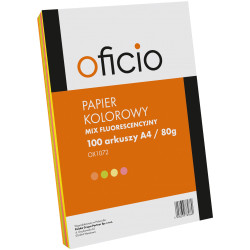 PAPIER KSERO MIX KOLORÓW FLUO OFICIO A4