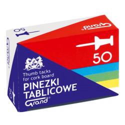 PINEZKI TABLICOWE KOLOROWE 50szt.