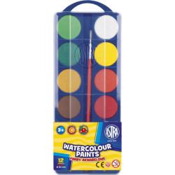 Farby akwarelowe ASTRA 12 kolorów 30 mm