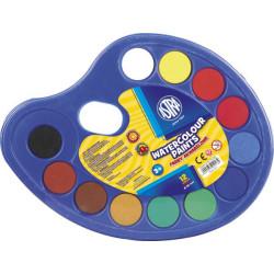 Farby akwarelowe ASTRA 12 kolorów Paletka