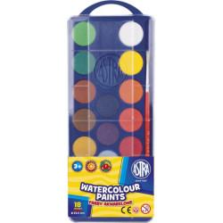 Farby akwarelowe ASTRA 18 kolorów 23,5 mm