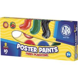 Farby plakatowe ASTRA 8 kolorów 10 ml