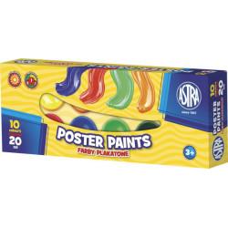 Farby plakatowe ASTRA 10 kolorów 20 ml