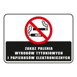 Tabliczka informacyjna ZAKAZ PALENIA UV A5