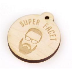 Brelok z grawerem ze sklejki SUPER FACET 4