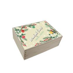 Pudełko bożonarodzeniowy z nadrukiem