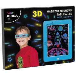 Magiczna neonowa tablica 3d LED niebieska
