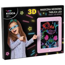 Magiczna neonowa tablica 3d LED różowa