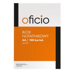 BLOK NOTATNIKOWY A4 100 KARTEK OFICIO