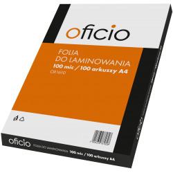 Folia laminacyjna do laminowania A4 100 mic Oficio
