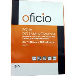 Folia laminacyjna do laminowania A5 100 mic Oficio