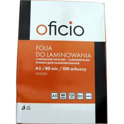 Folia laminacyjna do laminowania A5 80 mic Oficio 100ark.