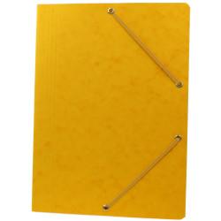 Teczka preszpanowa A4 z gumką Oficio żółta
