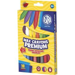 Kredki woskowe Astra 18 kolorów