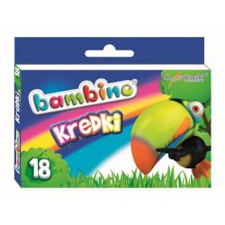 Kredki świecowe Bambino 18 kolorów