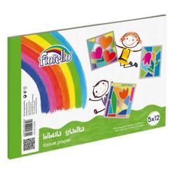 BIBUŁA GŁADKA blok A4 12 kolorów po 5 arkusz